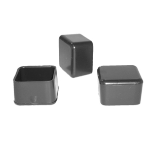 CAP SQR 1/2 BLACK  - Square 1/2   O.D. - CAPS