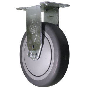 RIG 5x1-1/4 GR RUBB PLT BB  - 5 in.              ( 127 mm ) - CASTERS