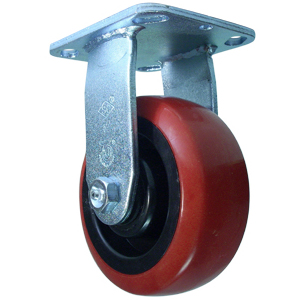 RIG 5x2 URE/POLYO RED/BLK PLT RB  - Red / Black - CASTERS