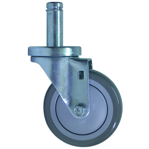 SWL 4x1-1/4 URE/POLYO CC STM .846x2-3/16  - 4 in.              ( 102 mm ) - CASTERS