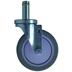 SWL 5x1-1/4 URE/POLYO CC STM .846x2-3/16  - Industrial / Institutional Casters - CASTERS