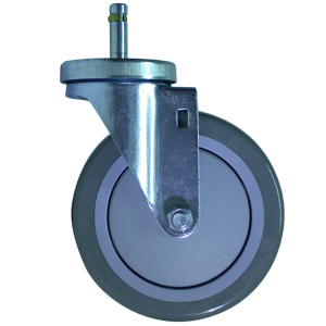 SWL 5x1-1/4 URE/POLYO CC STM 7/16x1-3/8  - Industrial / Institutional Casters - CASTERS