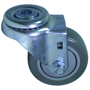SWL 3 x 1-1/4 URE/POLYO BB 1/2 BH  - Swivel 1/2 Bolt Hollow Hole ( H ) - CASTERS