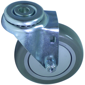 SWL 4 x 1-1/4 URE/POLYO BB 1/2 BH  - Swivel 1/2 Bolt Hollow Hole ( H ) - CASTERS