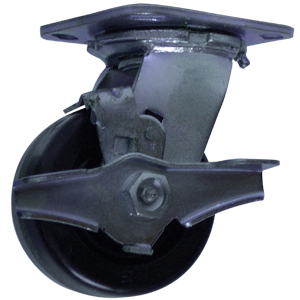 SWL 4x2 PHEN PLT RB BRK  - Swivel Plate / Brake ( Top Lock ) - CASTERS