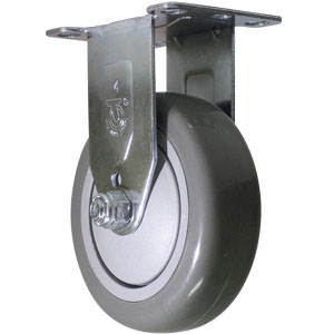 RIG 4x1-1/4 GR URE/POLYO BB PLT  - Industrial / Institutional Casters - CASTERS