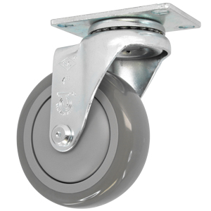 SWL 4x1-1/4 GR URE/POLYO BB PLT  - CASTERS