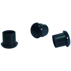 INS RND 5/8 (16-18) BLACK DOMED  - Black - INSERTS