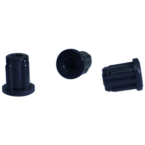 INS RND 3/4 (16-18) THRD 5/16 BLACK  - 5/16 (18) Threaded - ADAPTERS