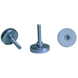 GTF 5/16(18) x 1-1/2 FENTE BASE 1-3/4 BLANC/CHROME  - 1 3/4 po  ( 44 mm ) - GLISSOIRES - NIVELEURS