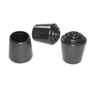 CAP RND 1 BLACK (HARD CRUTCH TIP)  - Round Tube - CAPS