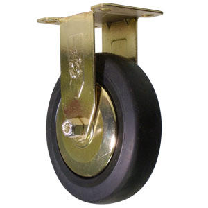 RIG GOLD 5x1.25 BLK RUBB PLT BB  - 5 in.              ( 127 mm ) - CASTERS