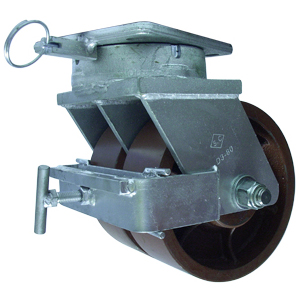 SWL TWN 8x3 DUCTST PLT TB 4PSL F BRK  - Industrial Casters (HD 2000+ lbs) - CASTERS