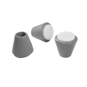 CAP RND 5/8 GREY/WHITE  - Polyethylene - CAPS