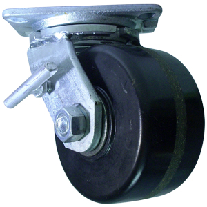SWL 6x3 PHEN PLT RB THBRK  - Industrial Casters (HD 2000+ lbs) - CASTERS