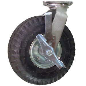 SWL 10 PNEU PLT BB BRAKE  - Swivel Plate / Brake ( Top Lock ) - CASTERS