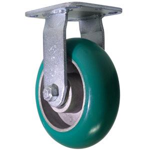 RIG 6x2 URE/ALUM CRWN GRN/SIL PLT PBB  - Precision Ball Bearing (PBB) - CASTERS