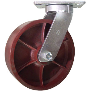 SWL 10x3 DUCT FLAT PLT TAPBRG  - Swivel Top Plate ( S ) - CASTERS