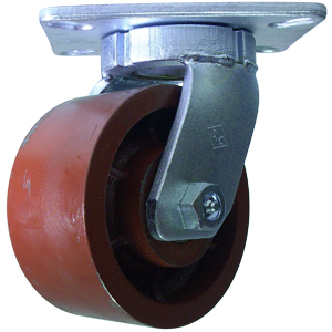 SWL 6x3 FLAT DUCT PLT TBRG  - 6 in.             ( 152 mm ) - CASTERS