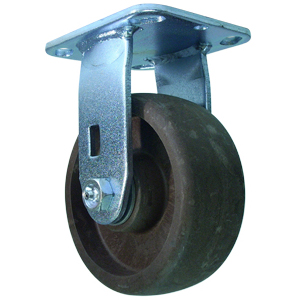 RIG 5x2 (HT) GL/FILLED NYLON PLT PB  - High Temperature (HT) Casters - CASTERS