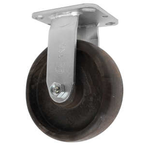 RIG 6x2 (HT) GL/NYLON PLT RB  - 6 in.             ( 152 mm ) - CASTERS