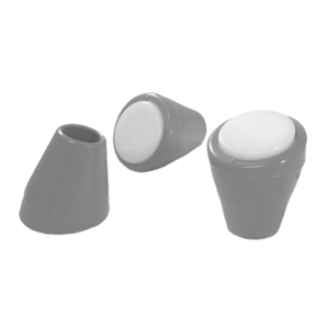 CAP RND 5/8 GREY/WHITE ANGLED  - Round Tube - CAPS