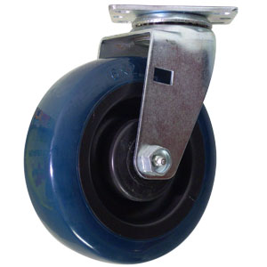 SWL 6x2 URE/POLYO PLT RB  - Blue / Black - CASTERS