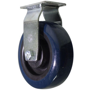 RIG 6x2 URE/POLYO BLUE/BLK SP-PLT RB  - 6 in.             ( 152 mm ) - CASTERS