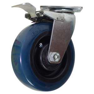SWL 6x2 URE/POLYO PLT RB TLB  - Blue / Black - CASTERS