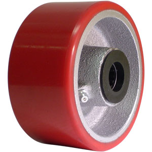 WHL 4x2 URE/CAST RED/SIL 3/4 RB  - 3/4 in. Roller Bearing - WHEELS