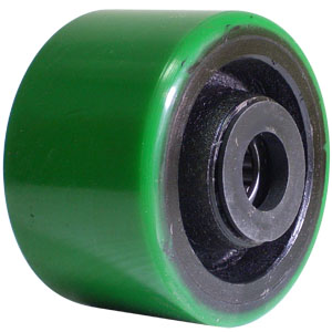 WHL 3.25x2 GRN URE/CAST RB 3/4  - Urethane / Cast Iron - WHEELS