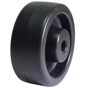 WHL 3x1.25 POLYO BLK PB 3/8  - Plain Bore (PB) - WHEELS