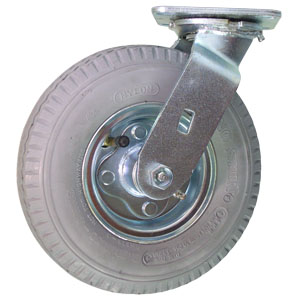 SWL 8'' GREY PNEUMATIC PLT BB  - Grey - CASTERS