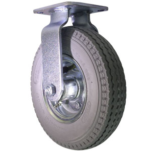 RGD 8'' GREY PNEUMATIC PLT BB  - Grey - CASTERS