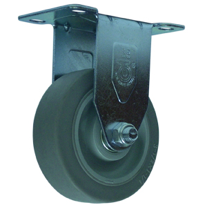 RIG 3-1/2x1-1/4 GR RUBB EL PLT BB  - Industrial / Institutional Casters - CASTERS