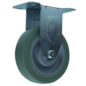 RIG 4x1-1/4 GR RUBB EL PLT BB  - Industrial / Institutional Casters - CASTERS