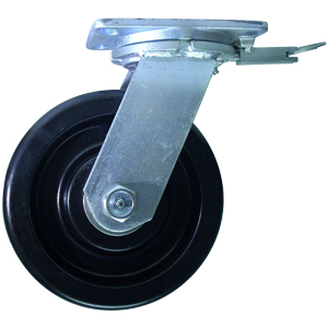 SWL 8x3 PHEN PLT HD RB 4PSL  - Industrial Casters (HD 2000+ lbs) - CASTERS