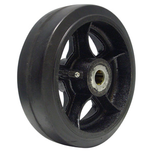 WHEEL 10x3 RUBB/CAST 1'' RB  - 1 in. Roller Bearing - WHEELS