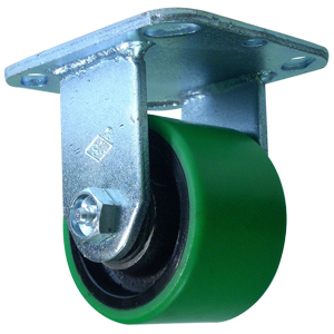 RIG 3-1/4 x 2 GRN URE/CAST PLT RB  - Green / Black - CASTERS