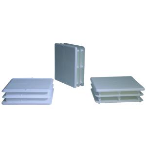INS 2-1/2 SQR (14-23) WHITE  - Square 2 1/2 O.D. - INSERTS