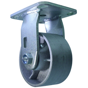 RGD 4x2 SEMI STEEL PLT RB  - 4 in.              ( 102 mm ) - CASTERS