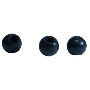 CAP RND 3/8 BLACK BALL  - - NONE - - CAPS