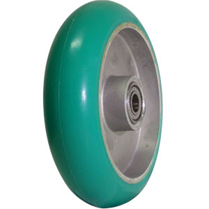 WHL 8x2 URE/ALUM CRW GRN/SIL 1/2 PBB  - 8 in.             ( 203 mm ) - WHEELS