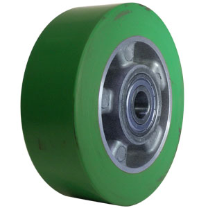 WHL 6x2 POLYU/ALUM GRN/SIL 1/2 PBB  - 6 in.             ( 152 mm ) - WHEELS
