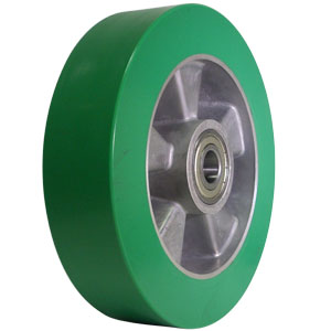 WHL 8x2 POLYU/ALUM GRN/SIL 1/2 PBB  - 8 in.             ( 203 mm ) - WHEELS