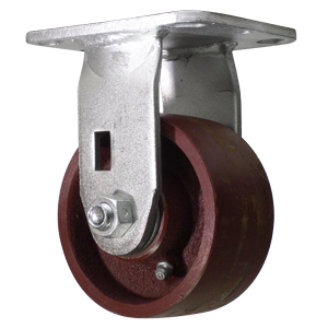RGD 4x2 CRWN DUCTILE PLATE RB  - Industrial Casters - CASTERS