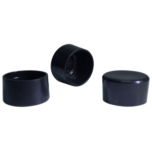 CAP RND 1-1/2 BLACK  - Round Tube - CAPS