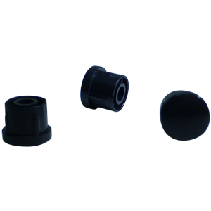 INS RND 7/8 (16-18) BLACK DOMED  - INSERTS