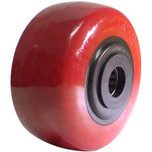 WHL 4x2 URE/POLYO RED/BLK 3/4 RB  - 4 in.              ( 102 mm ) - WHEELS