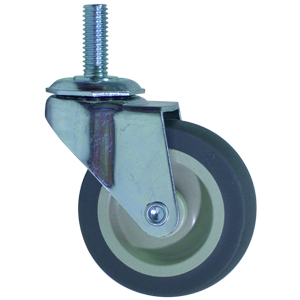 SWL 2-1/2x13/16 GREY RUBB.  STEM THRD 3/8x1  - 2 1/2 in.         ( 64 mm ) - CASTERS